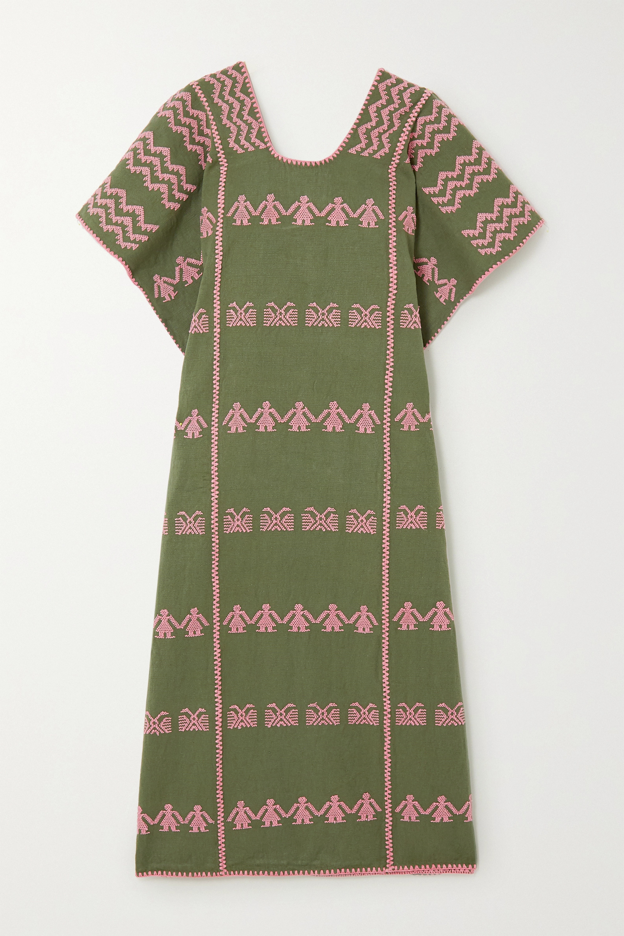 Pippa Holt + NET SUSTAIN embroidered cotton huipil