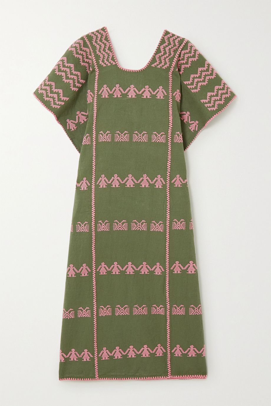 Pippa Holt + NET SUSTAIN embroidered cotton kaftan