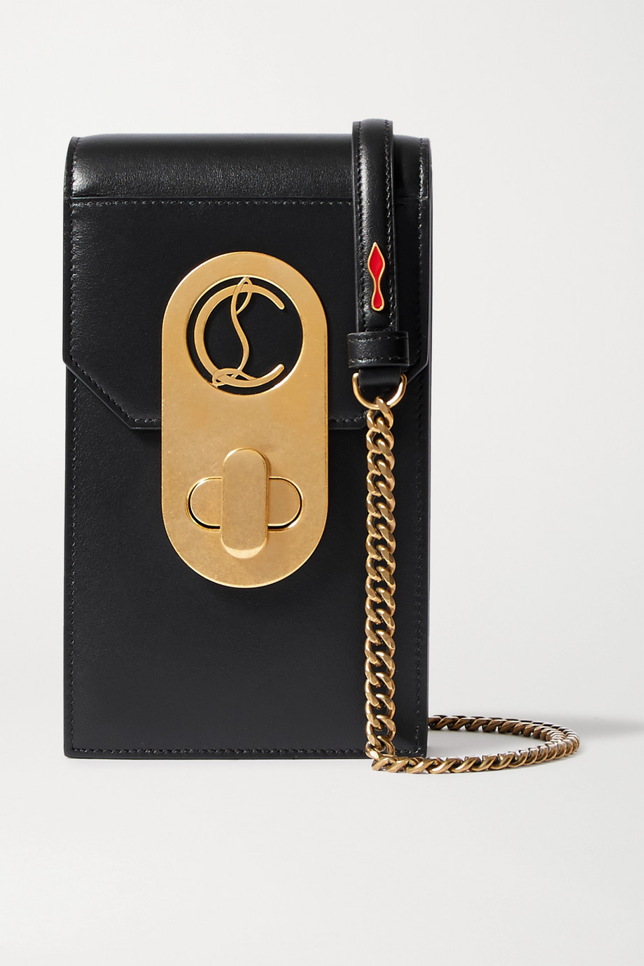 Christian Louboutin Elisa embellished leather phone case