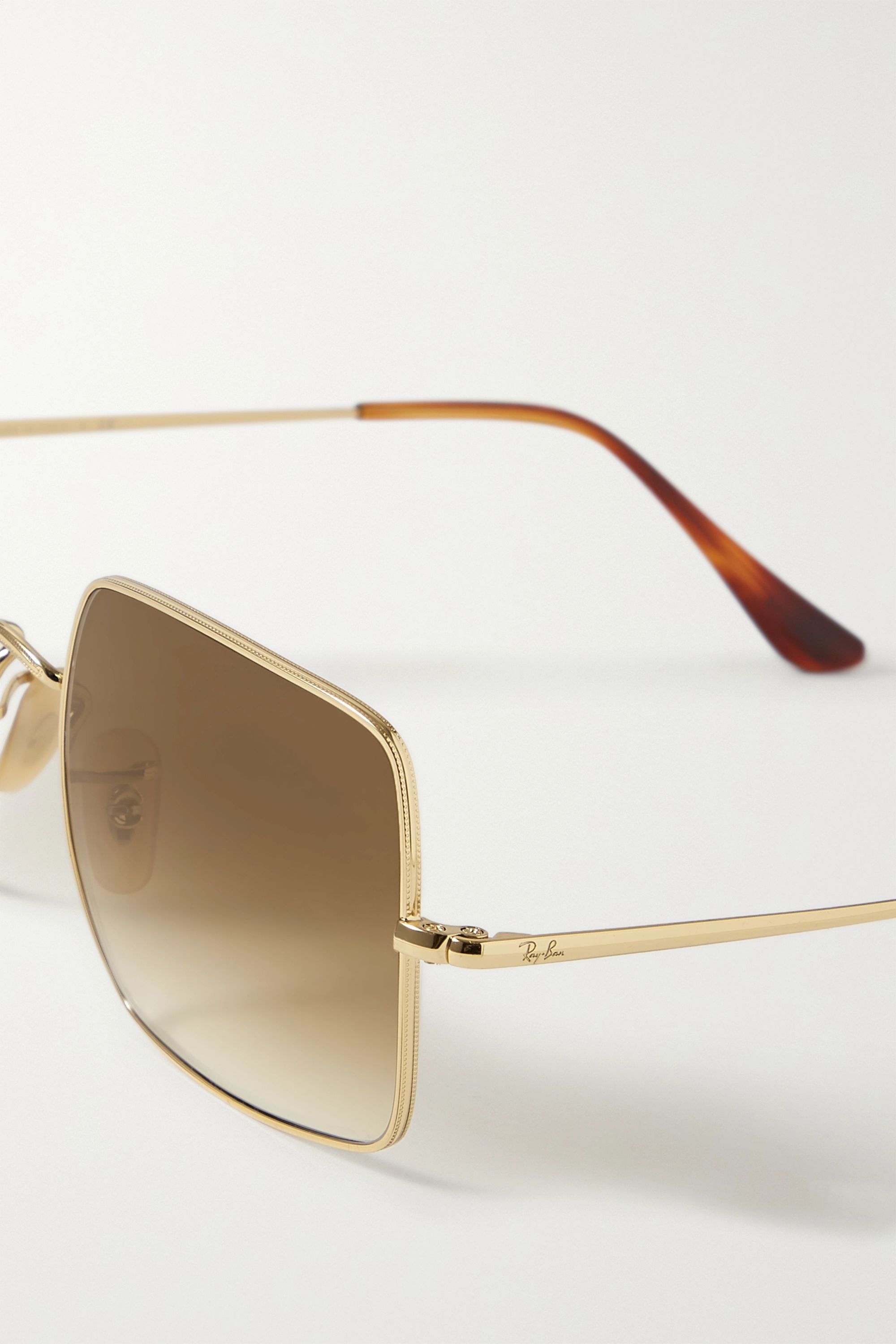Ray-Ban Square-frame gold-tone sunglasses