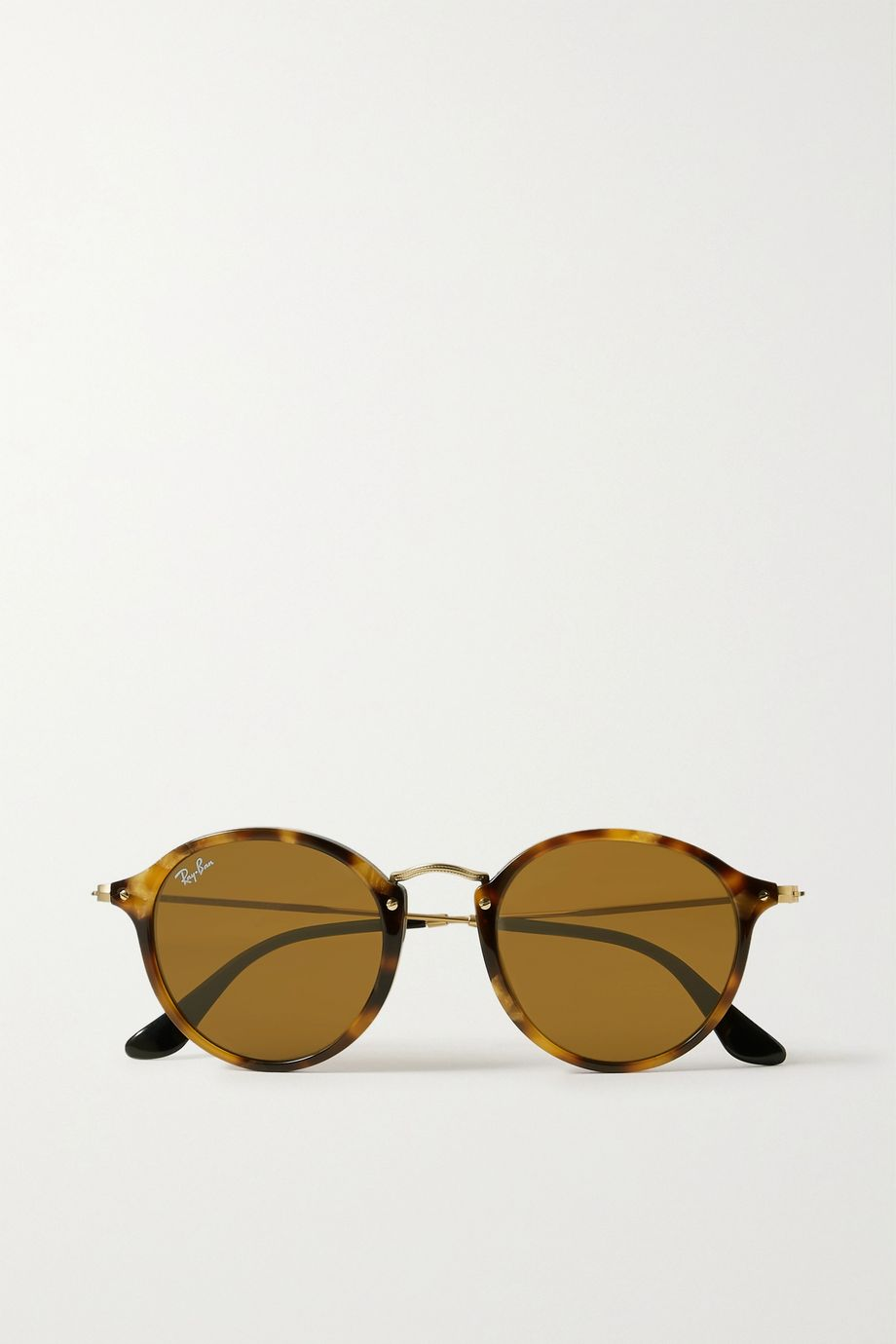 Ray-Ban Round-frame tortoiseshell acetate and gold-tone sunglasses