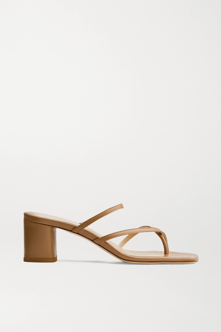 aeydē Larissa leather mules