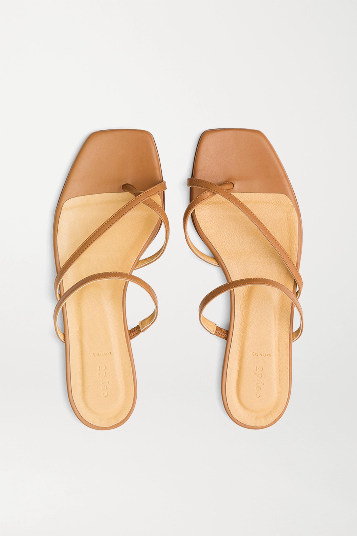 aeyde Marina leather slides