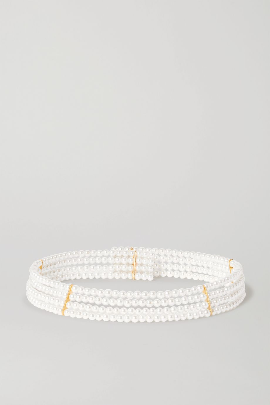 Timeless Pearly Gold-tone pearl choker