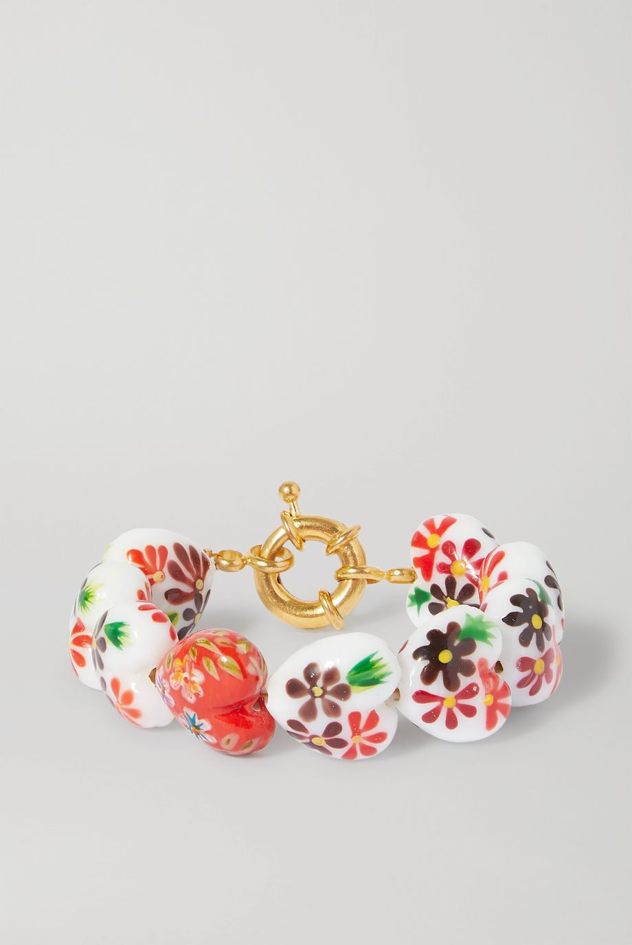 Timeless Pearly Glass and gold-tone bracelet