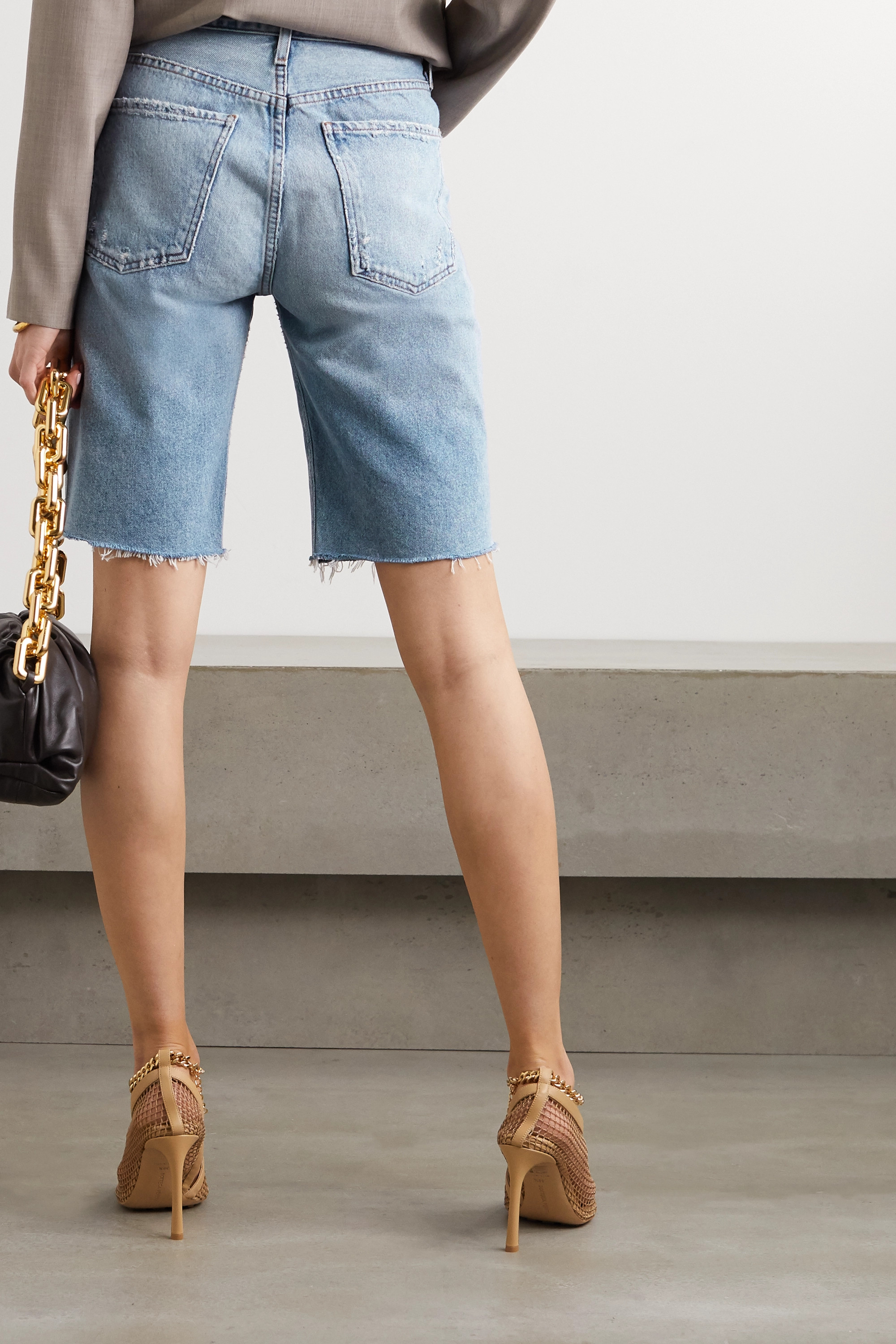 Citizens of Humanity Distressed denim shorts
