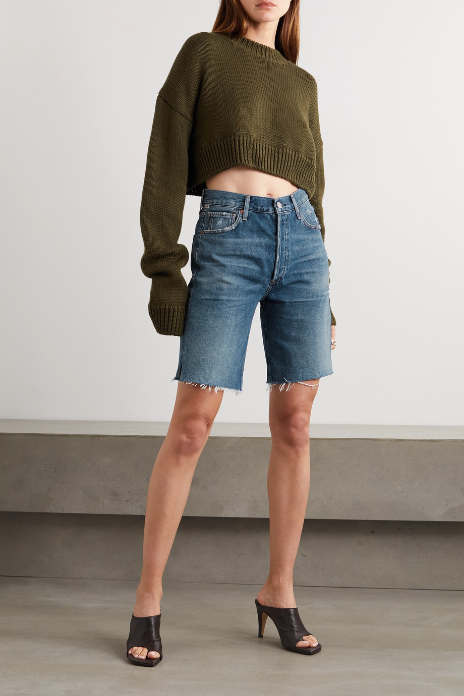 Citizens of Humanity Claudette distressed denim shorts