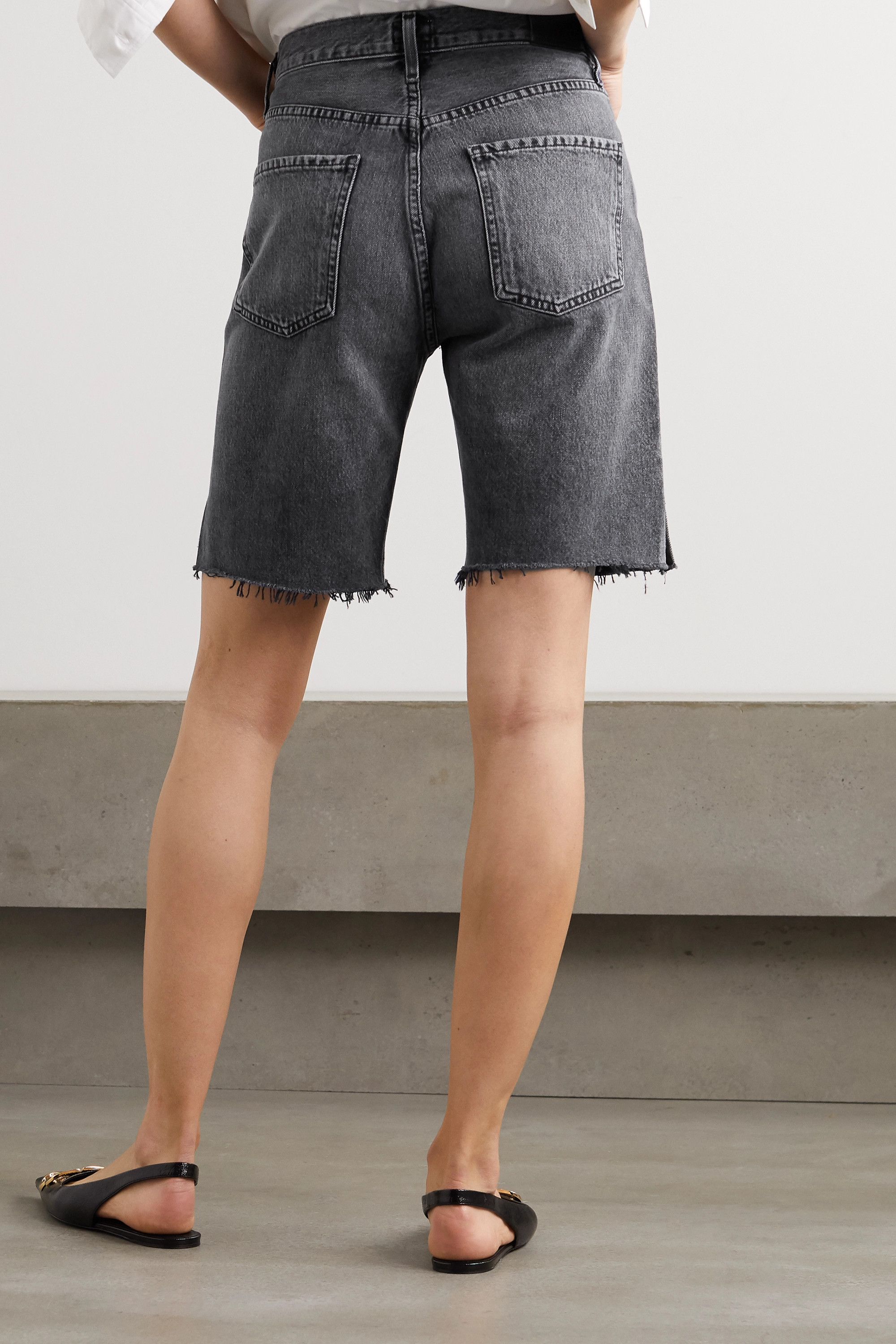 Citizens of Humanity Claudette frayed organic denim shorts