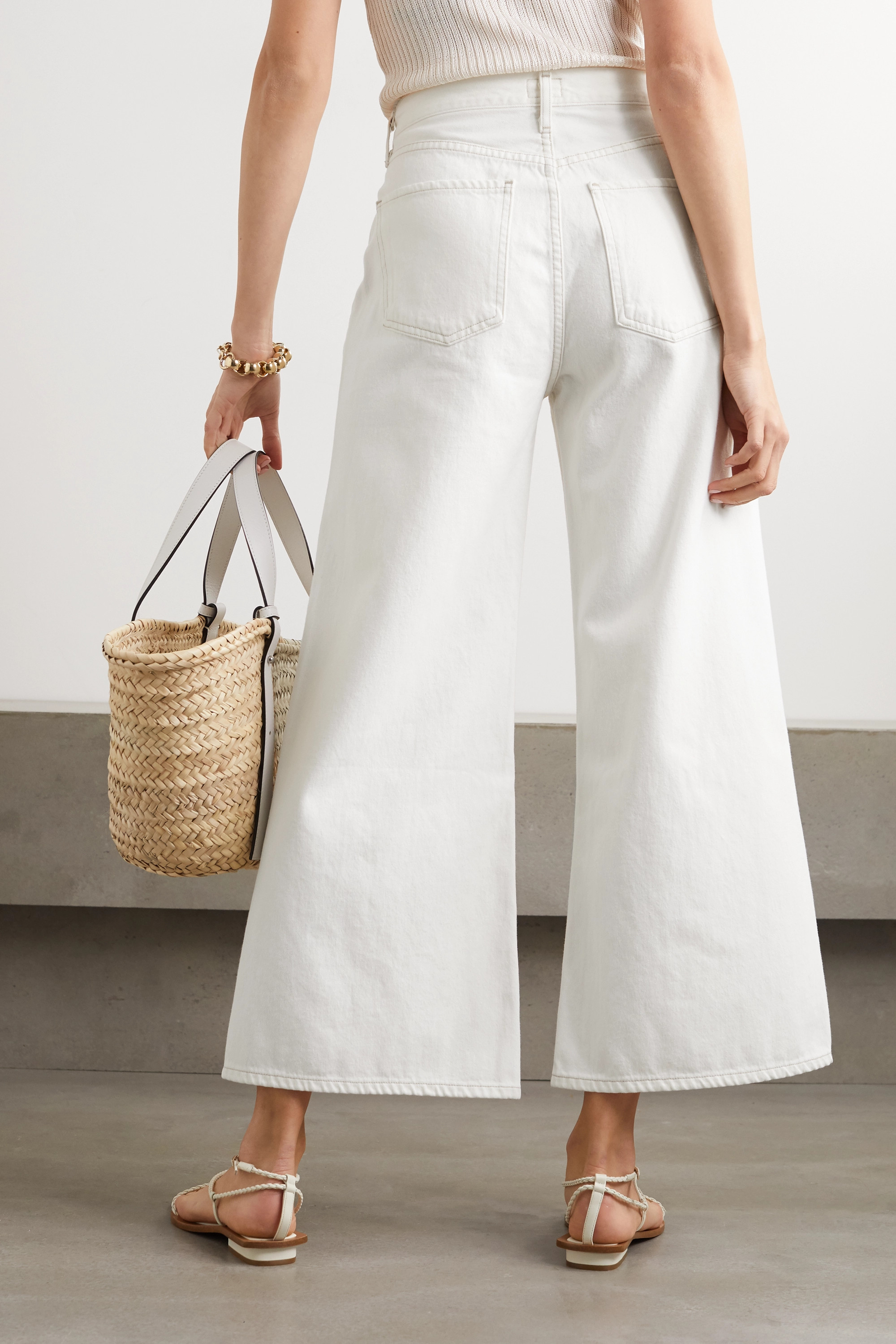 Citizens of Humanity Serena cropped organic high-rise wide-leg jeans