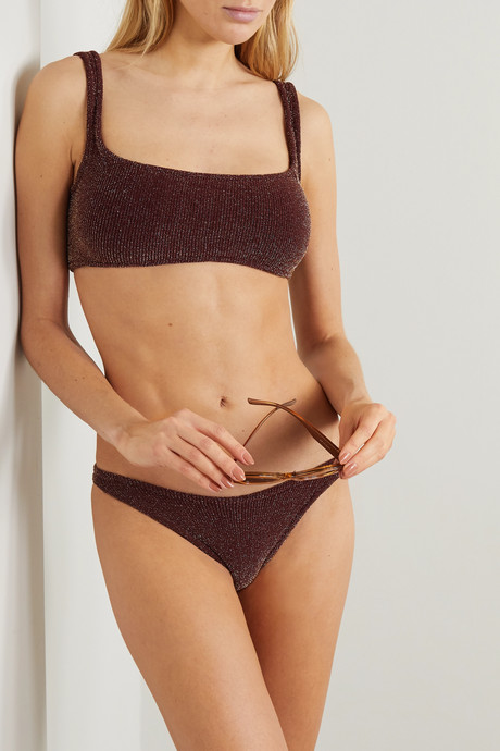 Xandra metallic seersucker bikini