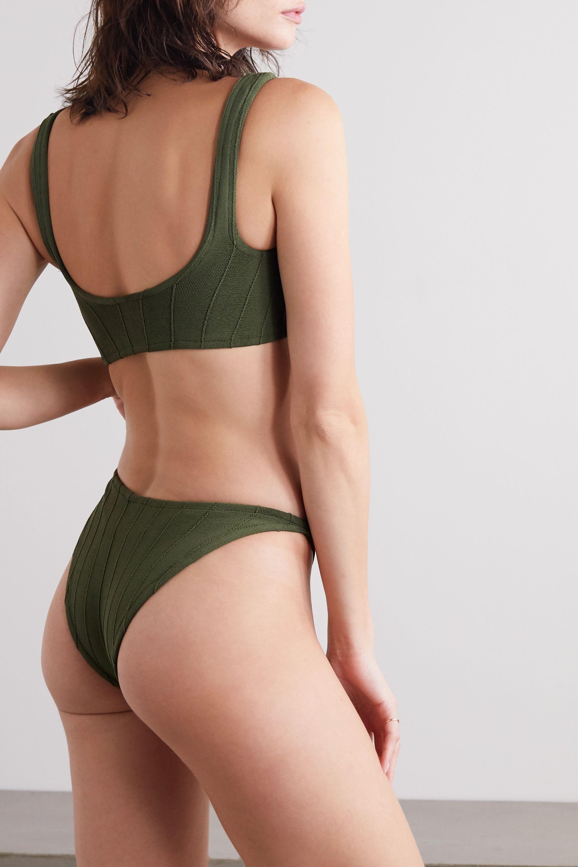 Hunza G Xandra Nile ribbed seersucker bikini