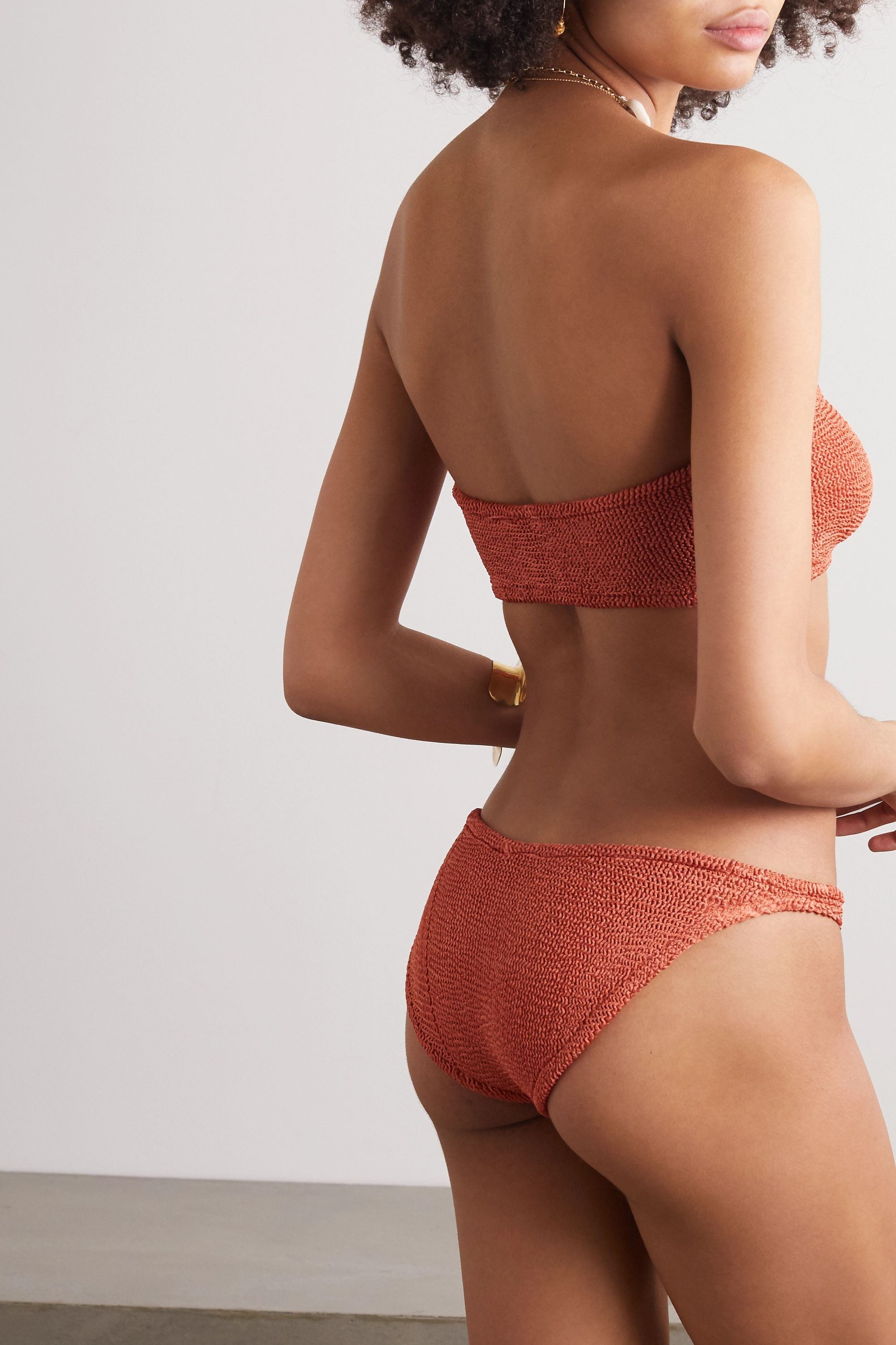 Hunza G Gabrielle seersucker bandeau bikini