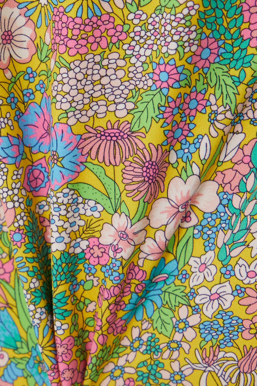 Les Girls Les Boys Belted floral-print swimsuit