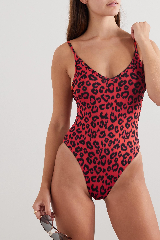 Les Girls Les Boys Badeanzug mit Leopardenprint