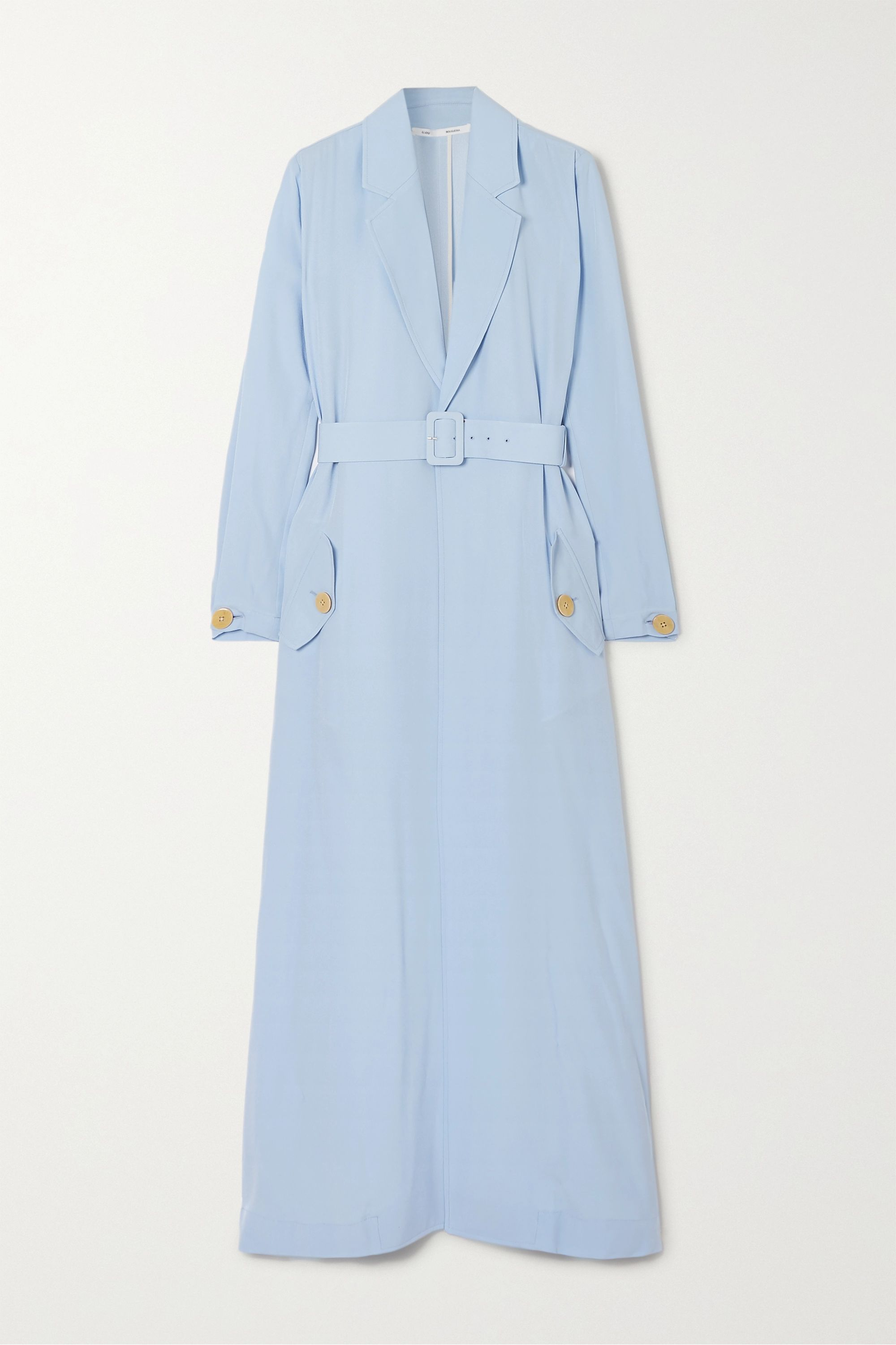 Bouguessa Belted crepe coat