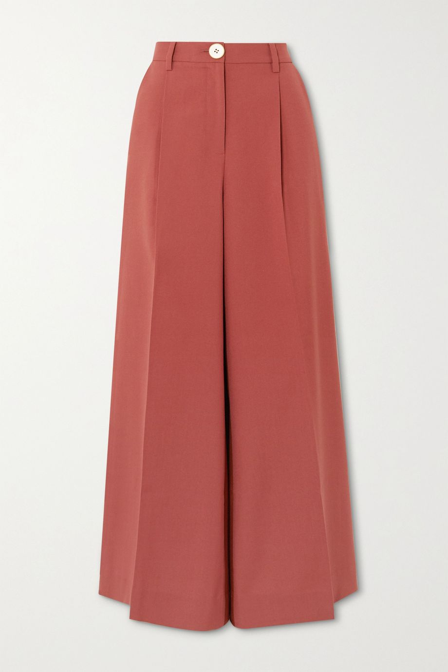 Bouguessa Pleated two-tone cady wide-leg pants