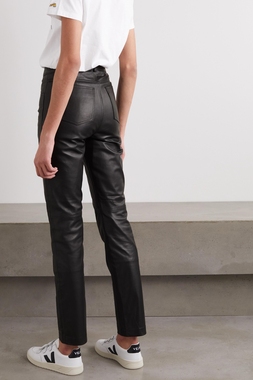Deadwood + NET SUSTAIN Phoenix leather straight-leg pants