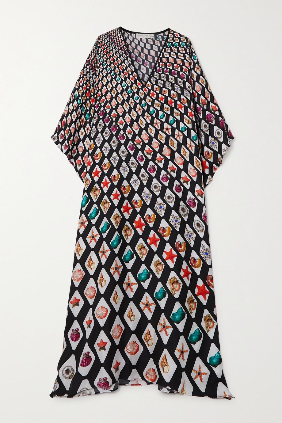 Mary Katrantzou MARY-MARE Kefalonia printed silk-twill kaftan