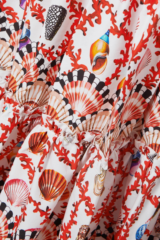 Mary Katrantzou MARY-MARE Brittany tiered printed cotton-blend poplin maxi skirt