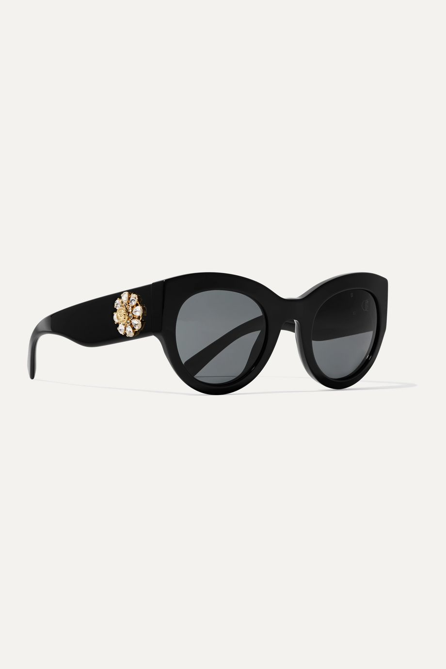 Versace Cat-eye crystal-embellished acetate sunglasses