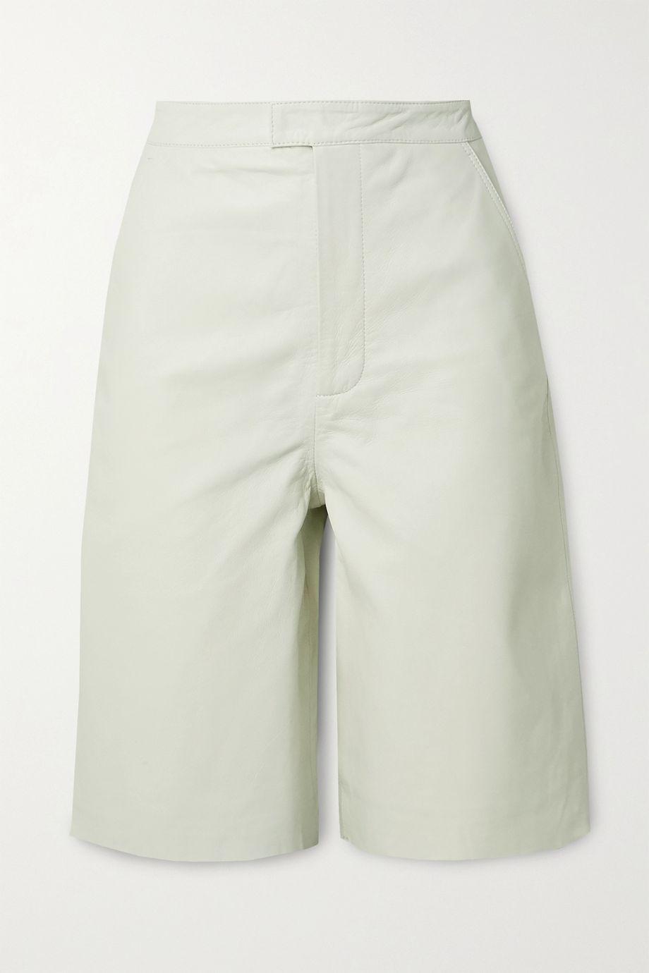 REMAIN Birger Christensen Manu leather shorts