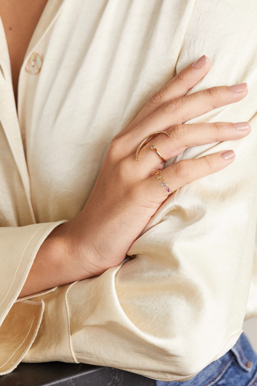 Persée 18-karat gold multi-stone ring