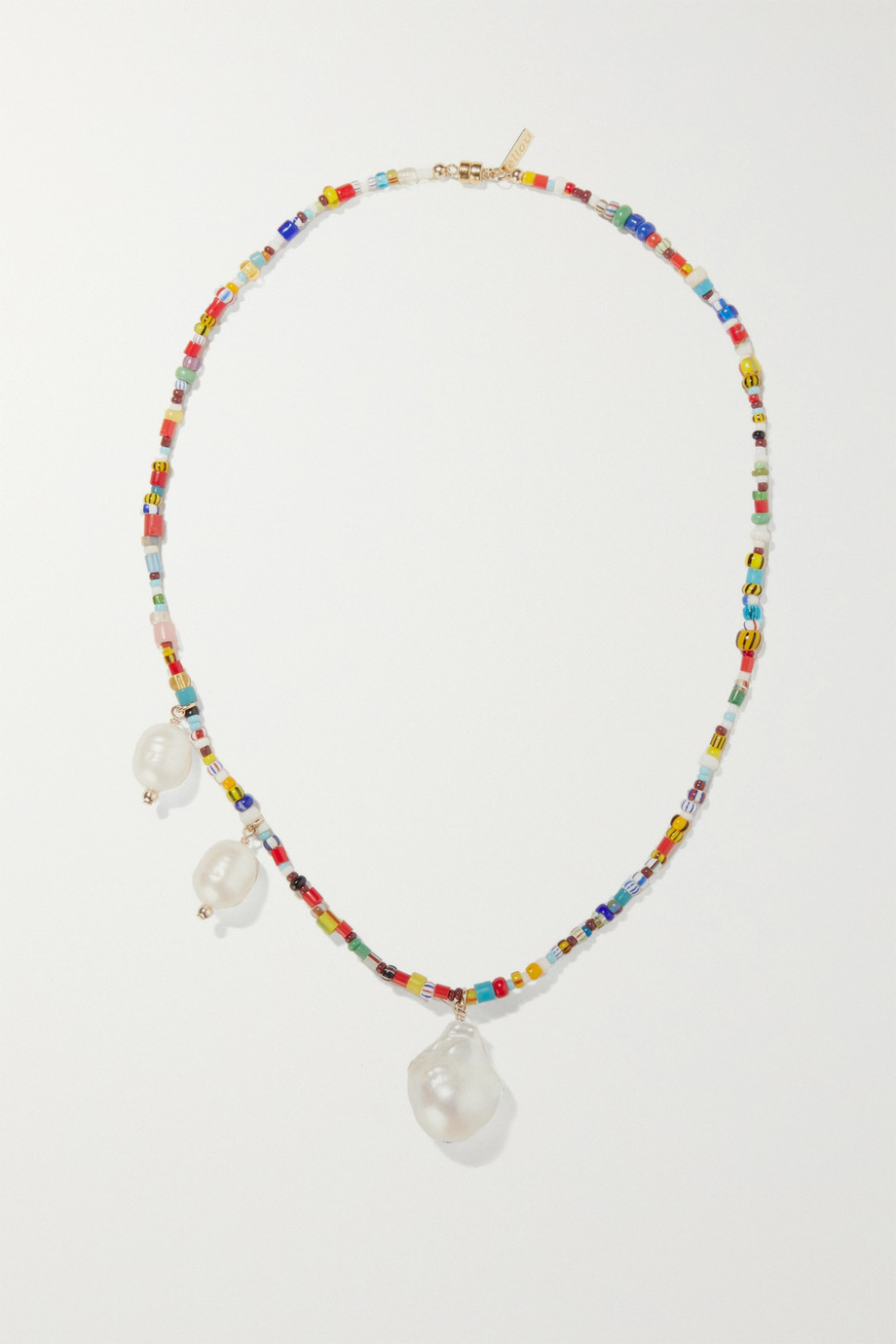 éliou Paxi gold-tone, pearl and bead necklace