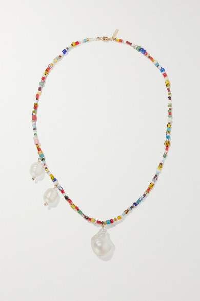 Paxi Gold Tone, Pearl And Bead Necklace by éliou