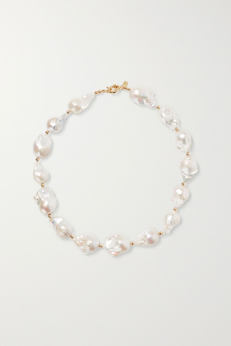 éliou Gold-tone bead and pearl necklace