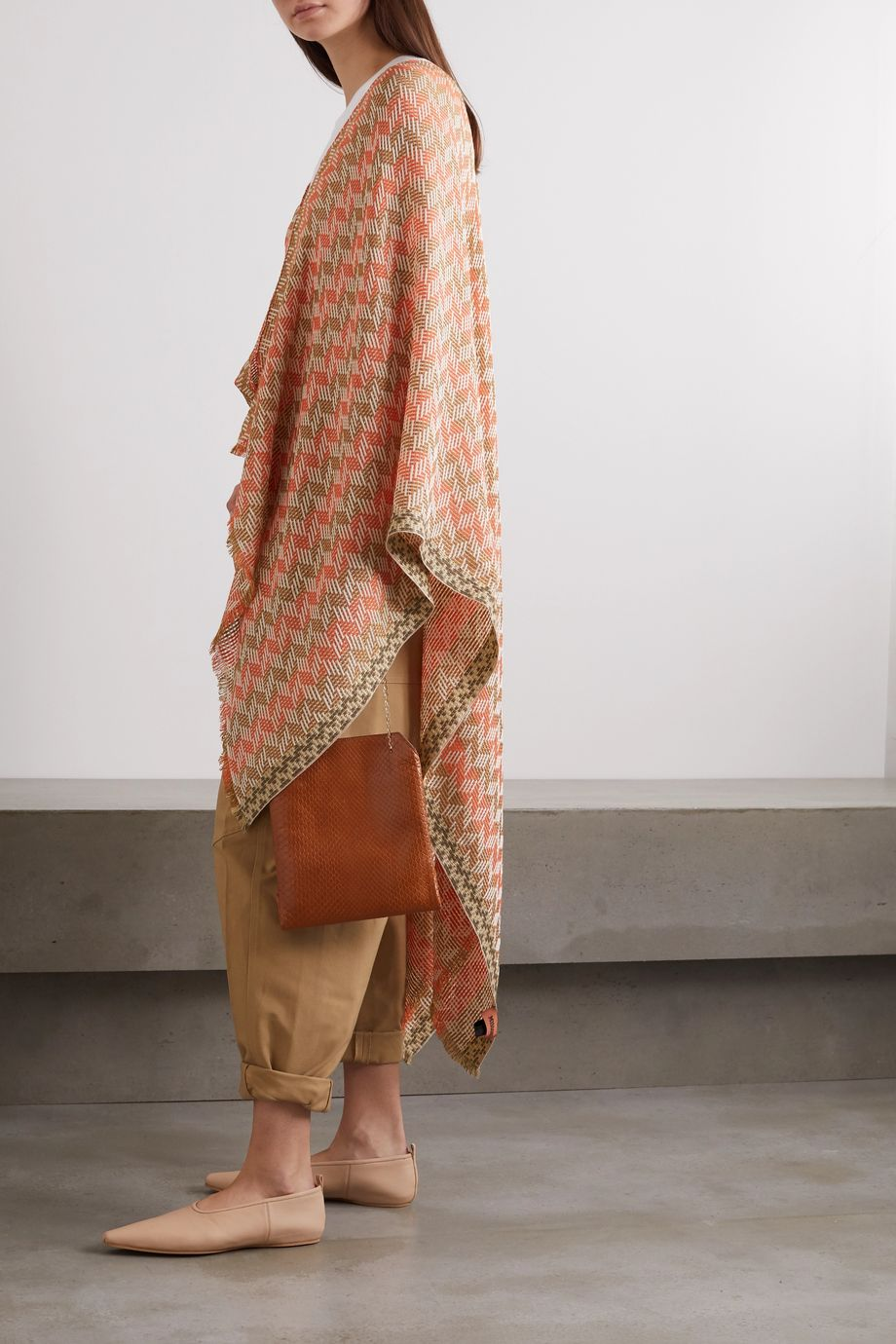 Missoni Metallic checked cotton-blend wrap