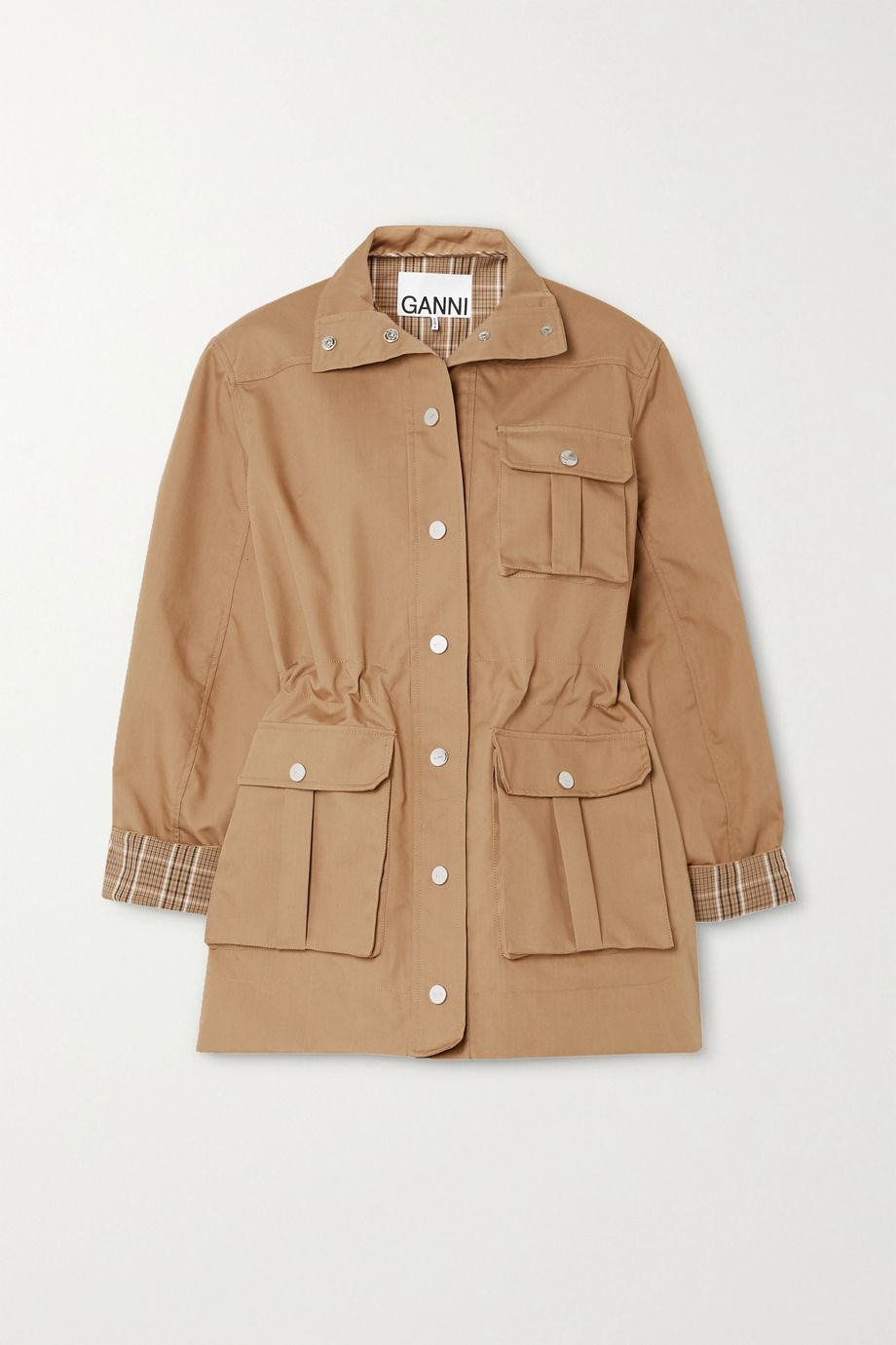 GANNI Cotton-blend canvas jacket
