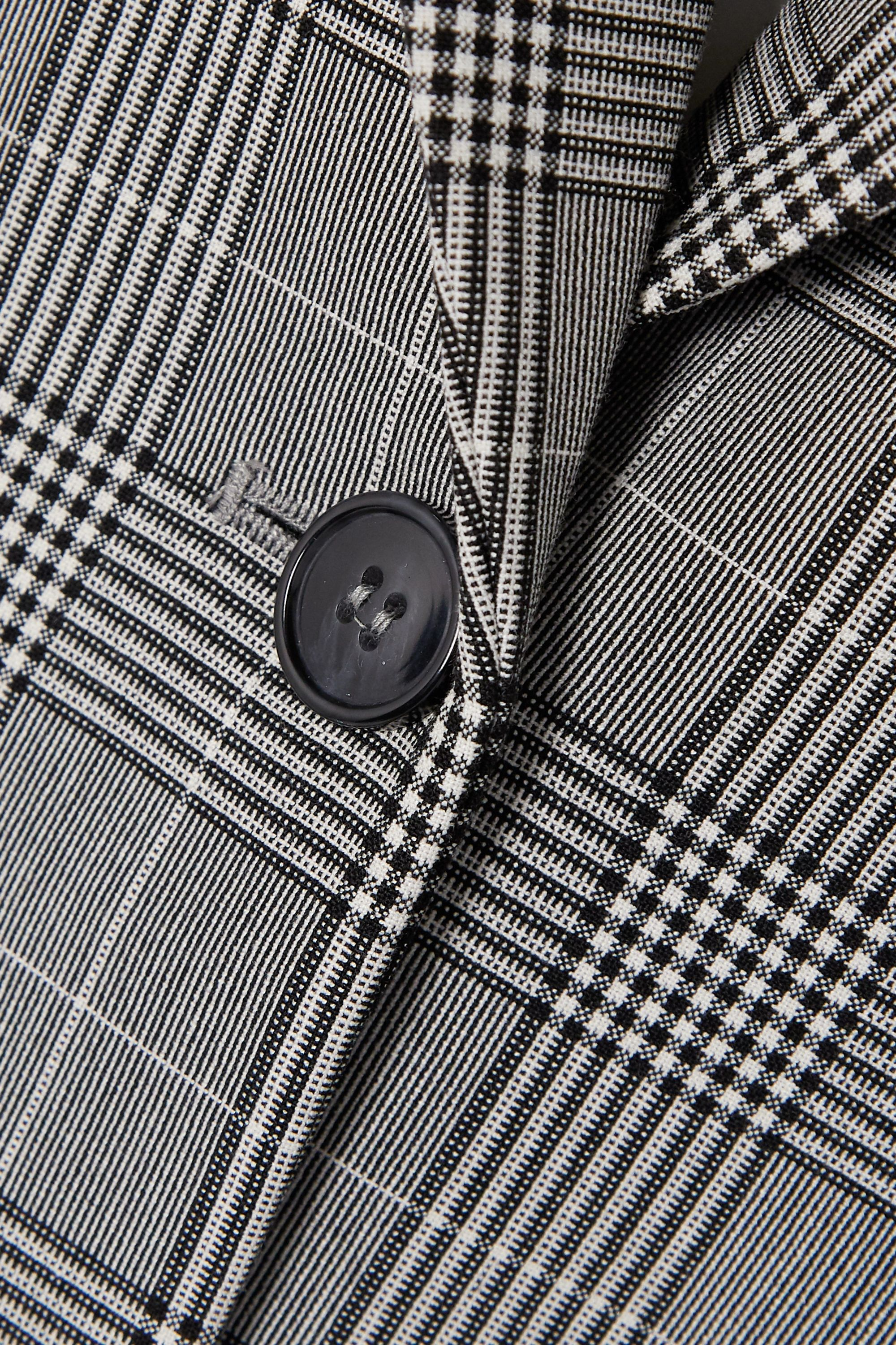 GANNI Prince of Wales checked woven blazer