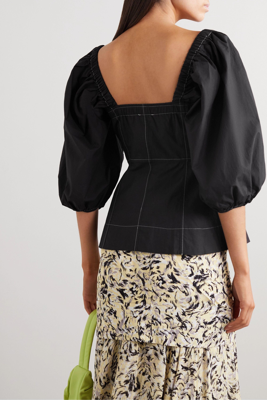 GANNI Cotton-poplin blouse