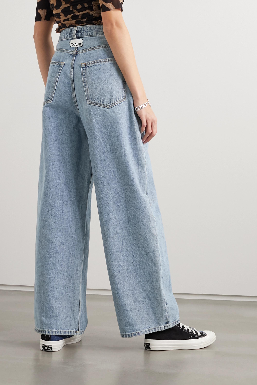 GANNI + NET SUSTAIN high-rise wide-leg jeans