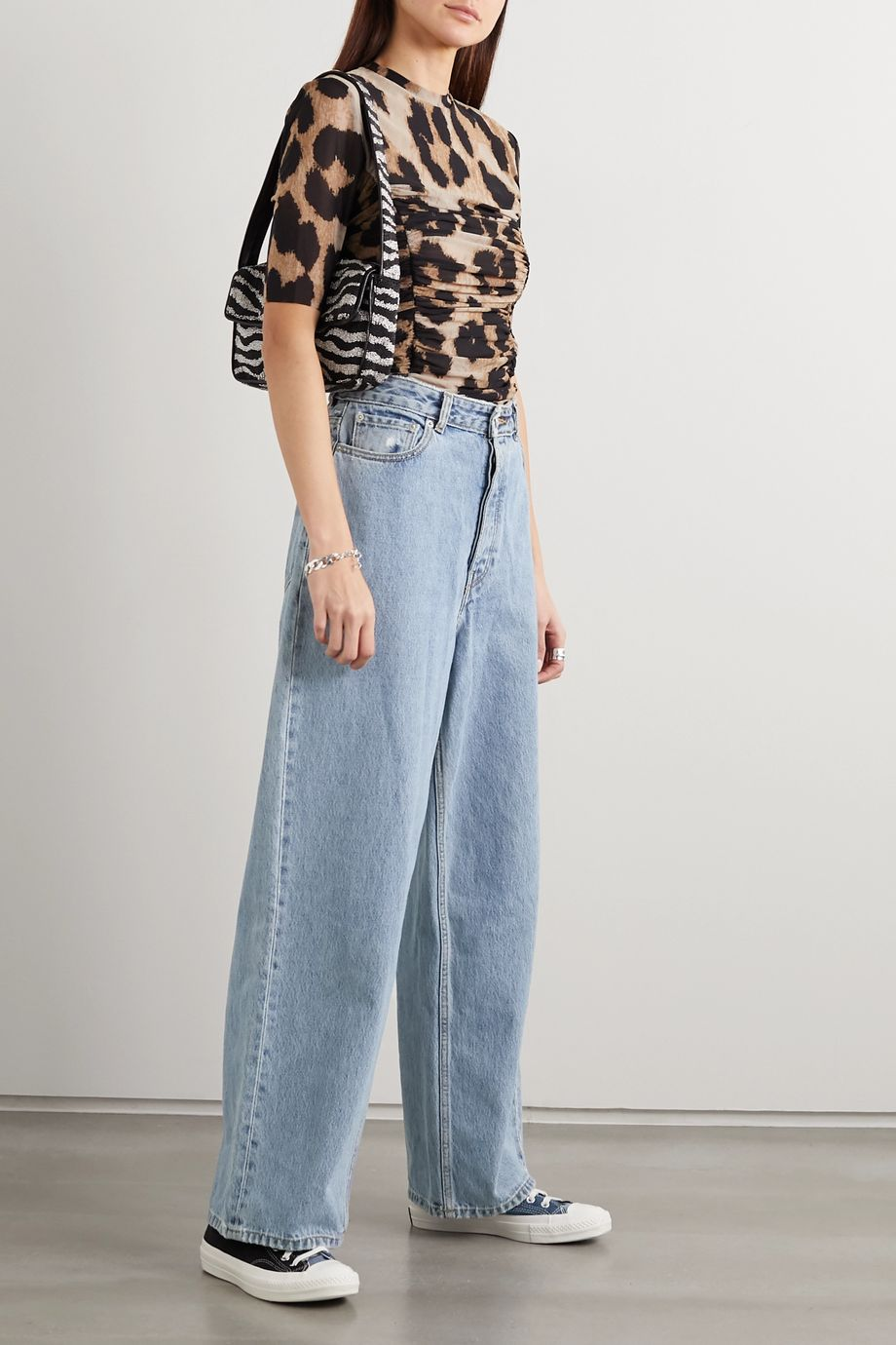 GANNI + NET SUSTAIN high-rise wide-leg jeans