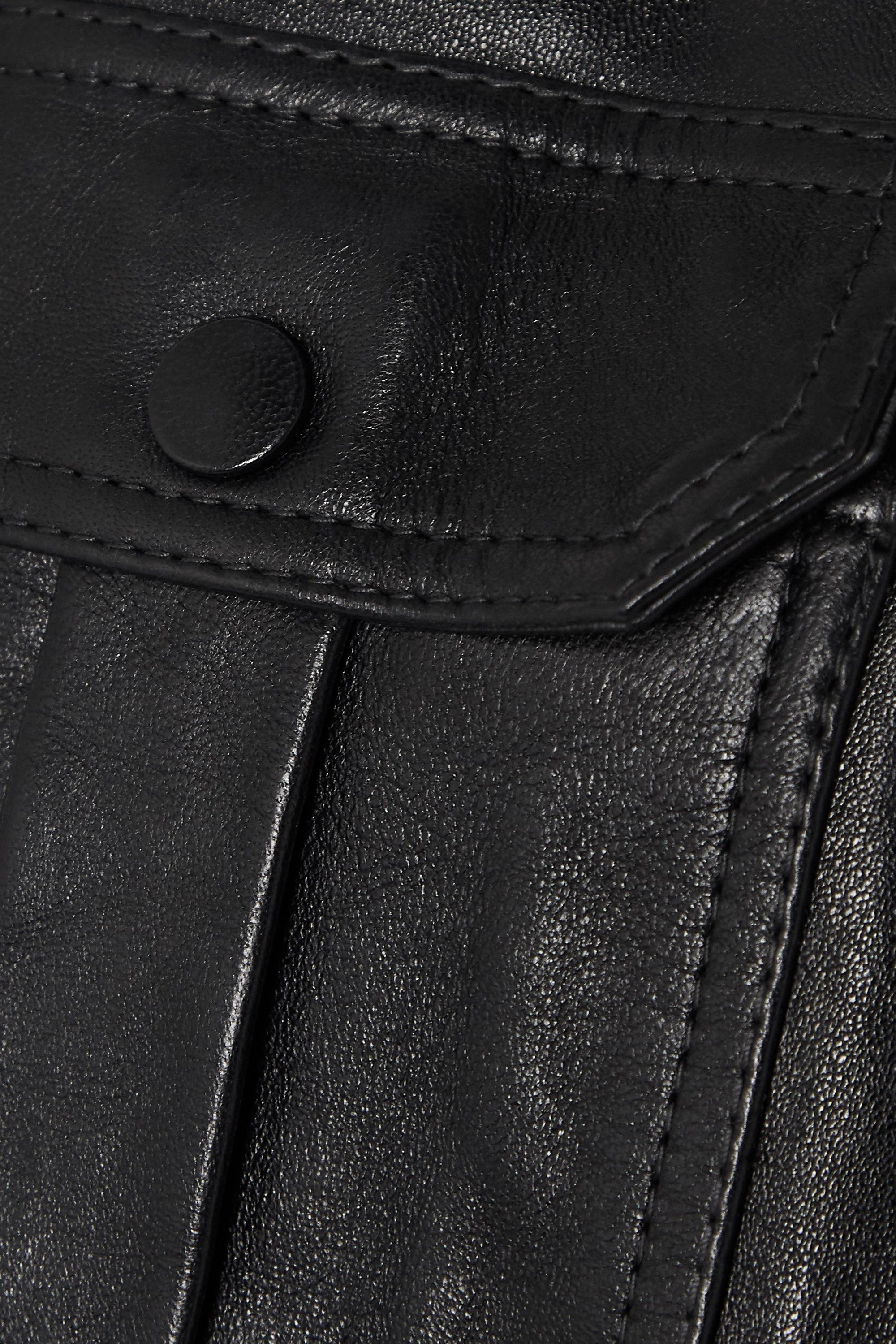 GANNI Leather wrap jacket