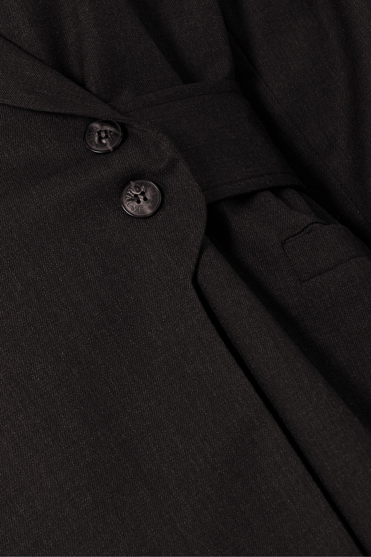 GANNI Belted wool-twill blazer