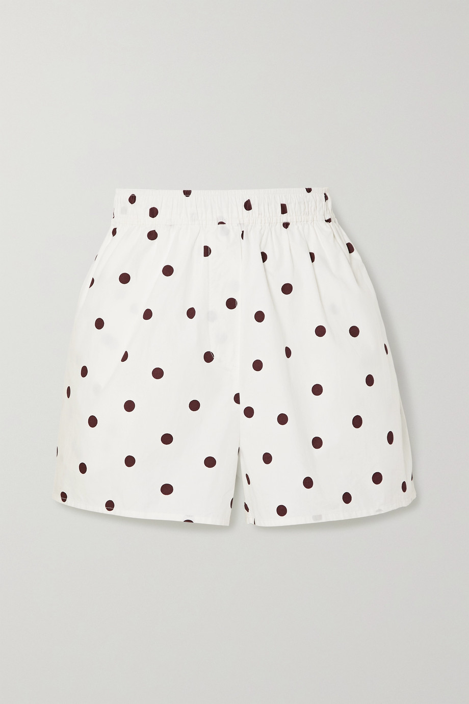 GANNI Polka-dot cotton-poplin shorts