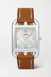 Cape Cod 23mm small stainless steel, leather, mother-of-pearl and diamond watch