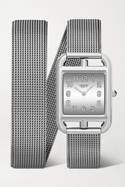 Hermès timepieces Cape Cod 23mm small double-strap stainless steel watch
