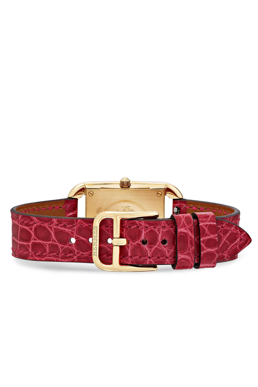 Hermès Timepieces Cape Cod 23 毫米 18K 黄金、珍珠母、钻石小号腕表(短吻鳄鱼皮表带)