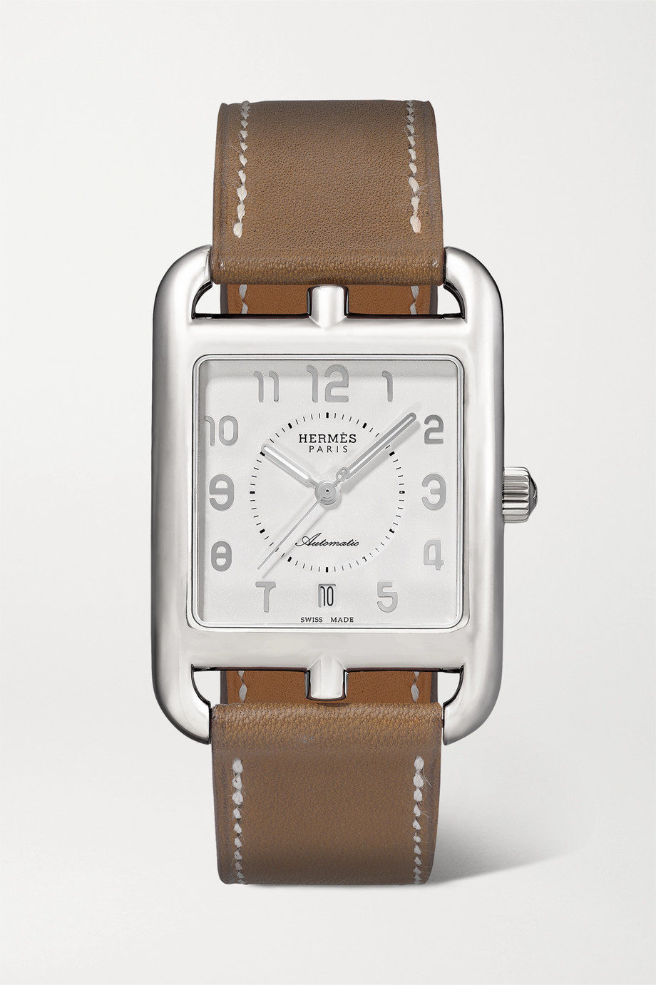 Hermès Timepieces Cape Cod Automatic 29mm large stainless steel and leather watch