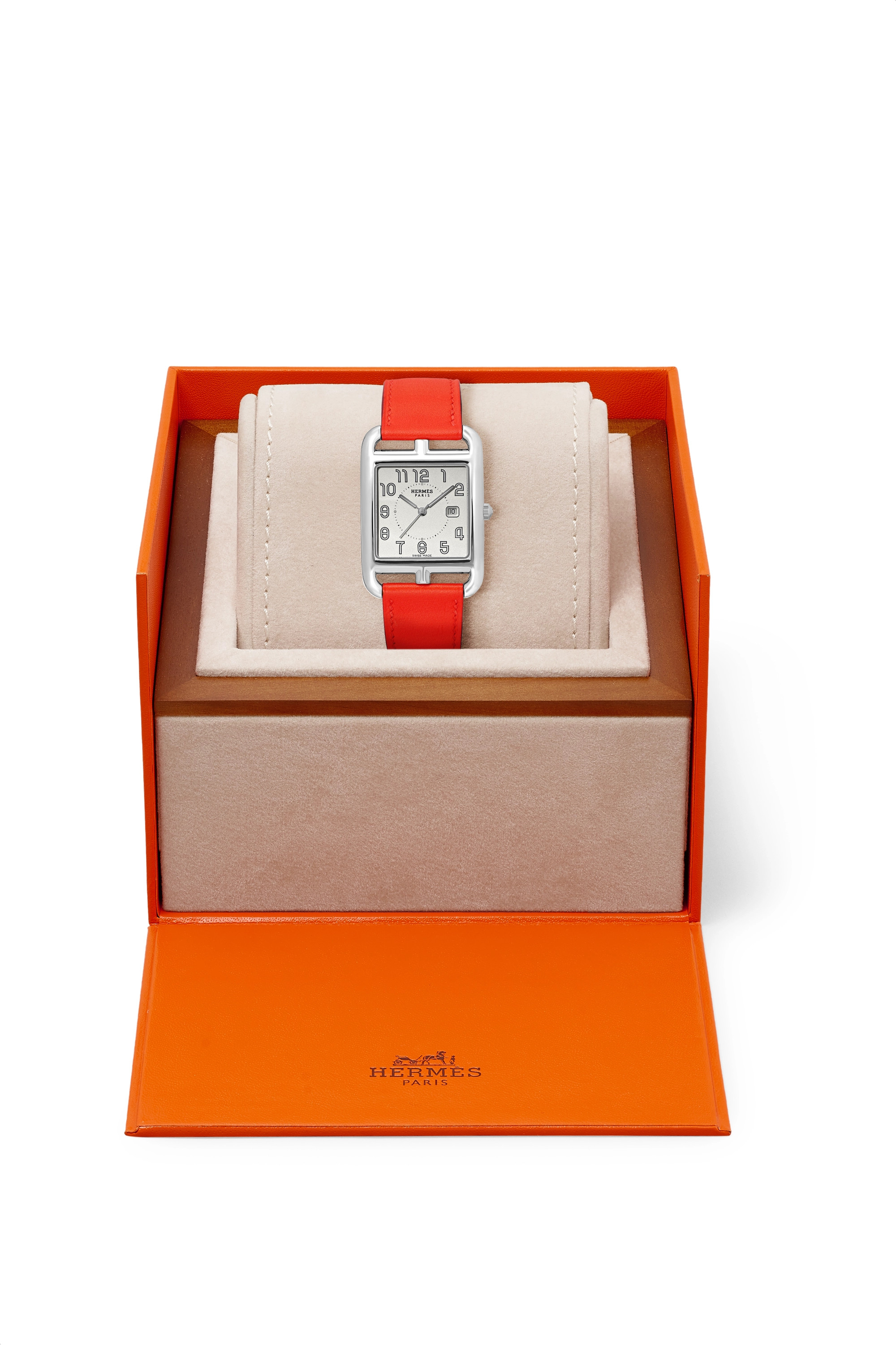 Silver Cape Cod 29mm Large Stainless Steel And Leather Watch | Hermès Timepieces