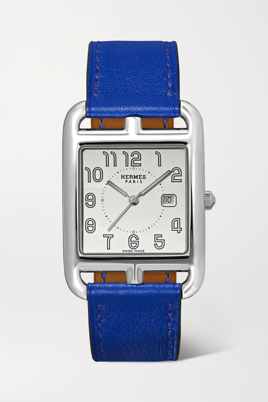 Hermès Timepieces Cape Cod 29mm medium stainless steel and leather watch