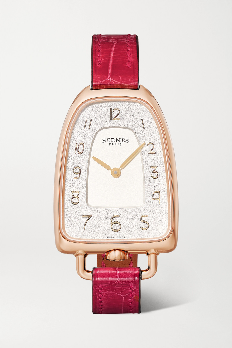 Hermès Timepieces Galop d'Hermès 26mm medium 18-karat rose gold and alligator watch