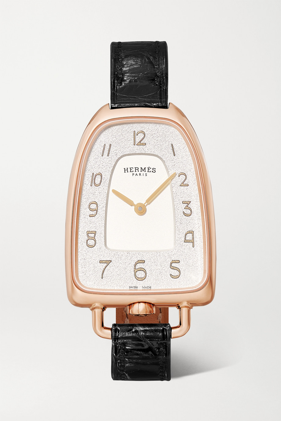 Hermès Timepieces Montre en or rose 18 carats à bracelet en alligator Galop d'Hermès 26 mm Medium