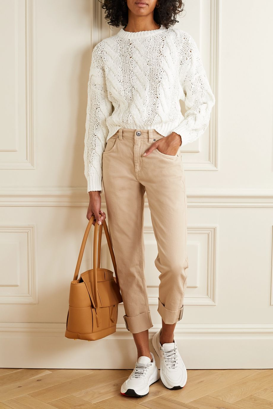 Brunello Cucinelli Sequin-embellished cable-knit sweater