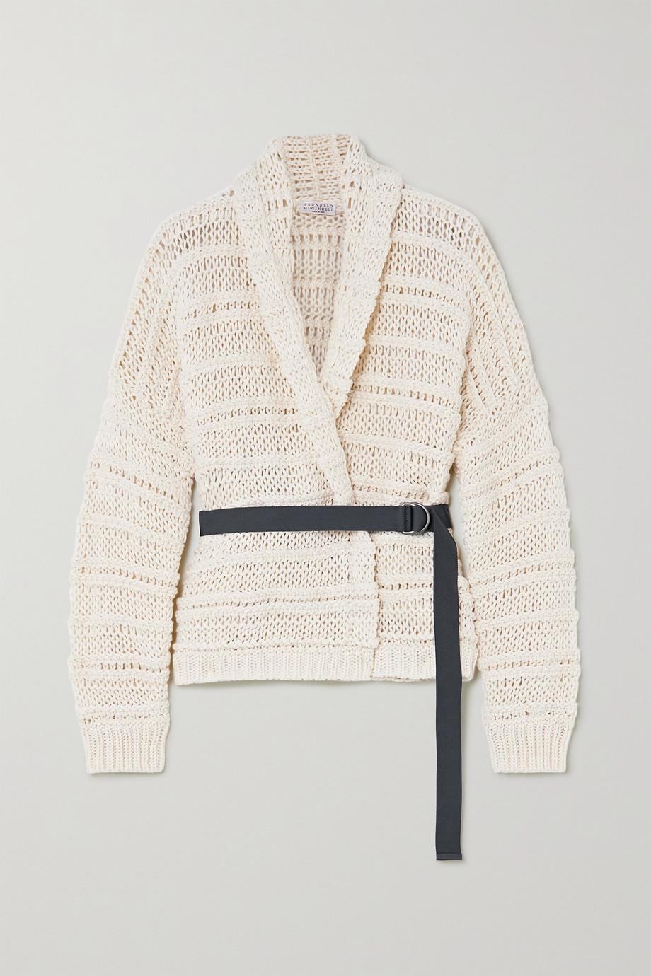 Brunello Cucinelli Belted cotton cardigan