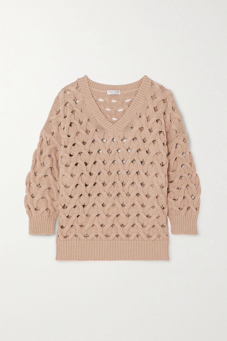 Brunello Cucinelli Cable-knit cotton-blend sweater