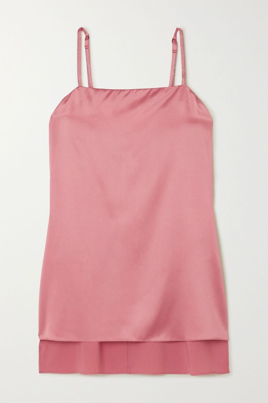 Brunello Cucinelli Stretch-silk satin camisole